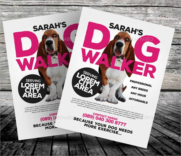 Dog Walking Flyer Template Unique 15 Dog Walking Flyer Templates Psd Vector Eps Ai