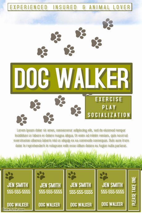 Dog Walking Flyer Template Unique Dog Walker Template