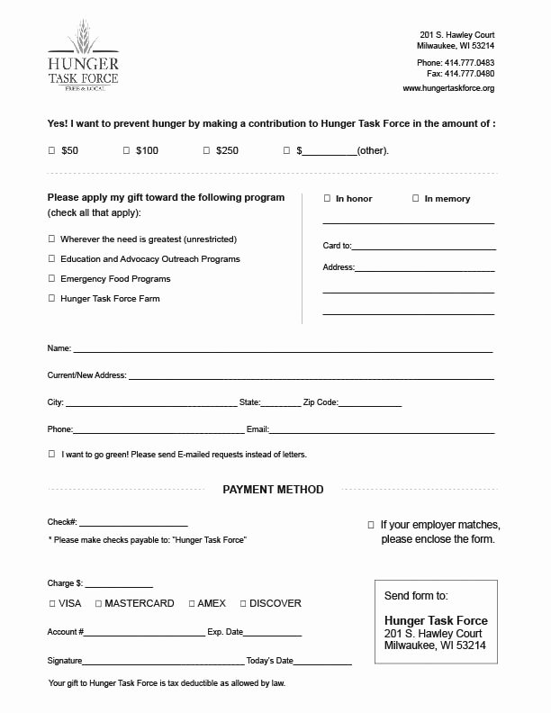 Donation form Template Word Awesome Charitable Donation form Template Alfonsovacca