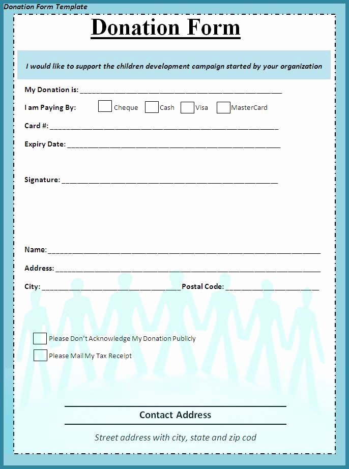 Donation form Template Word Awesome Donation form Template Free formats Excel Word