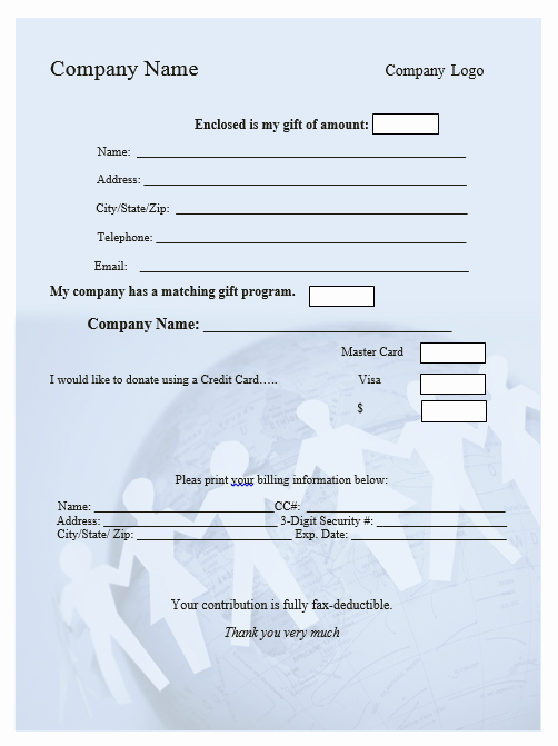 Donation form Template Word Elegant Printable forms Archives Word Templates