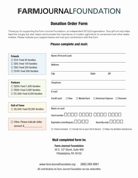 Donation form Template Word Fresh 6 Charitable Donation form Templates formats Examples