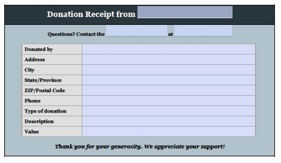 Donation form Template Word Inspirational Free Donation Invoice Template Receipt Excel