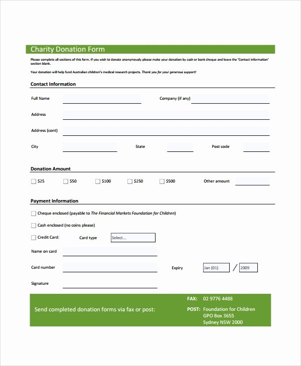 Donation form Template Word Lovely 7 Sample Donation forms