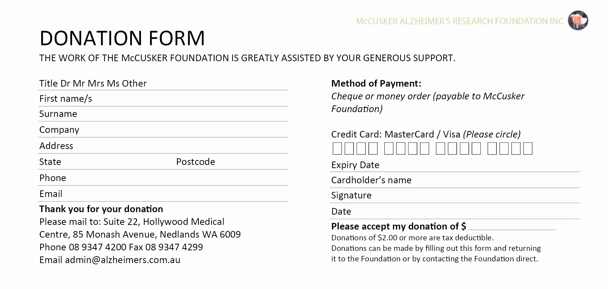 Donation form Template Word Lovely Template Credit Card Slips Template