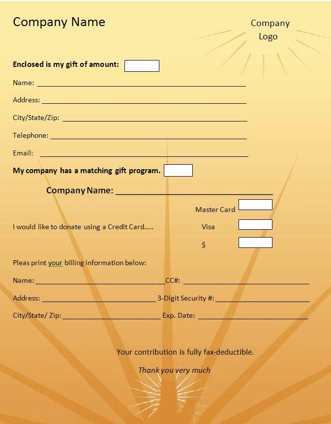 Donation form Template Word Luxury Donation form Template