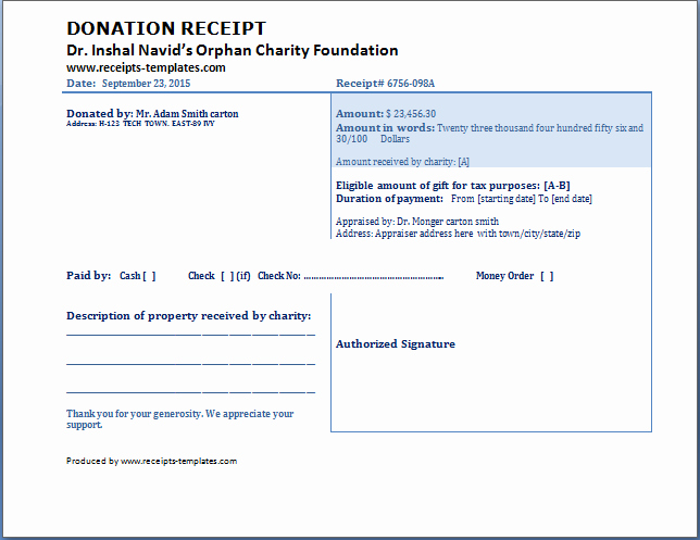 Donation form Template Word New Donation Receipt Template Free
