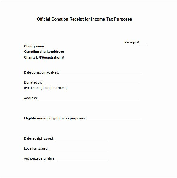 Donation Receipt Template for 501c3 Awesome 10 Donation Receipt Templates Doc Pdf