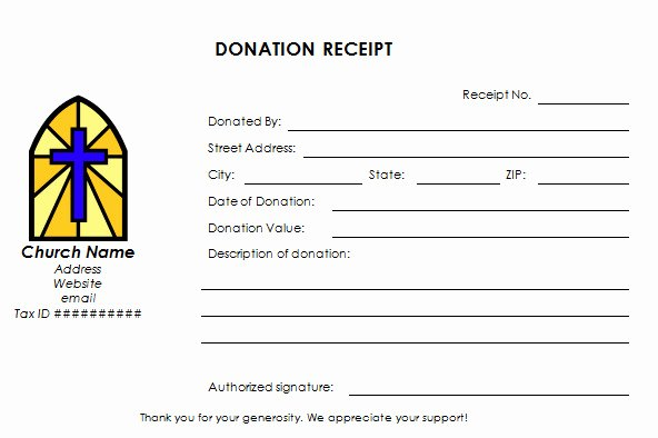 Donation Receipt Template for 501c3 Beautiful Church Pledge form Template Templates Resume Examples