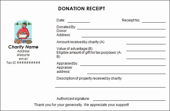 Donation Receipt Template for 501c3 Elegant 23 Donation Receipt Templates – Pdf Word Excel Pages