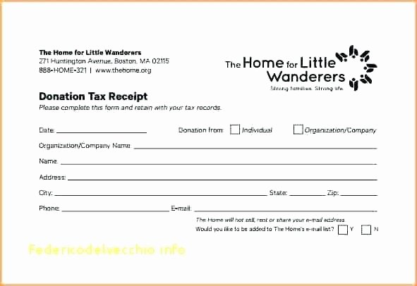 Donation Receipt Template for 501c3 Elegant Tax Deductible Donation Receipt Template Using the and Its