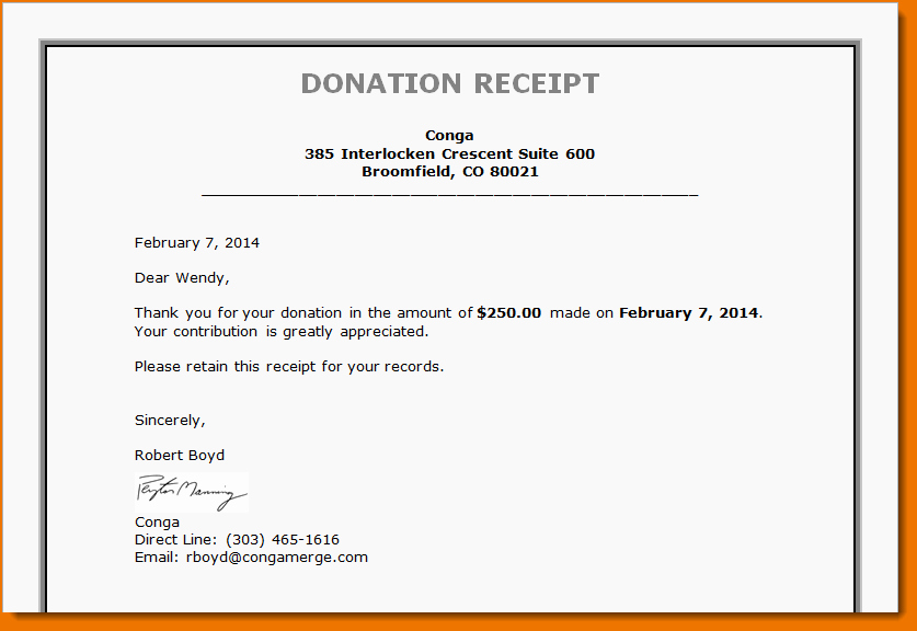 Donation Receipt Template for 501c3 Fresh 4 Non Profit Donation Receipt Template
