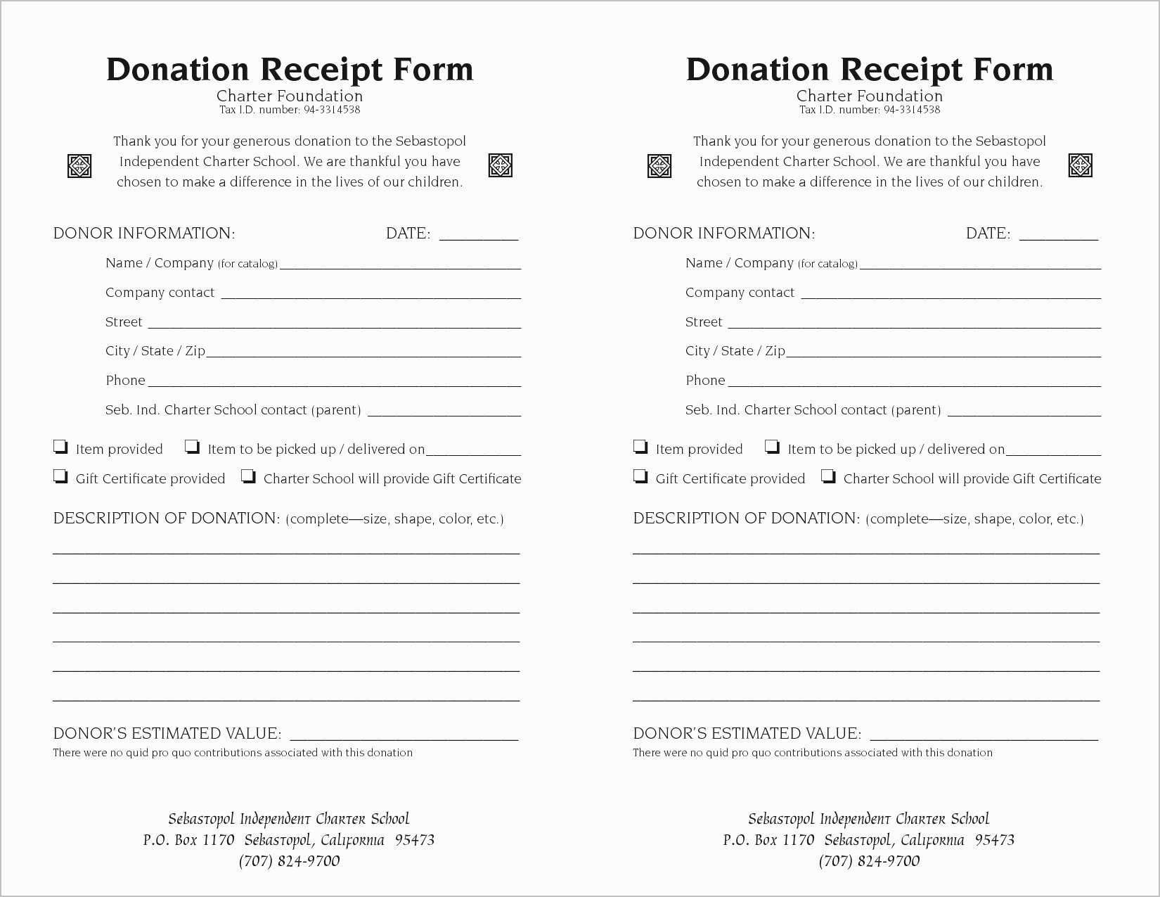 Donation Receipt Template for 501c3 Inspirational Tax Write F Donation Letter Template Examples