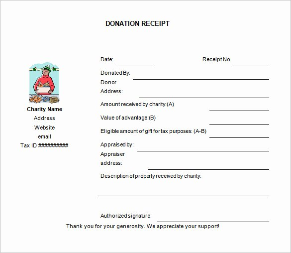 Donation Receipt Template for 501c3 Luxury Charitable Donation Receipt Template Free Download Aashe