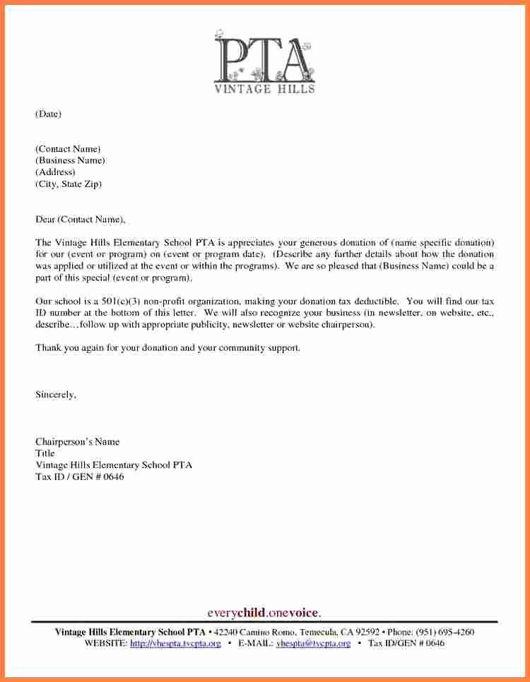 Donation Receipt Template for 501c3 New 501c3 Donation Receipt