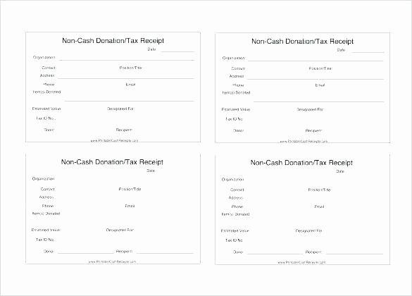 Donation Tax Receipt Template Fresh Tax Deductible Donation form Template – Onlineemilyfo