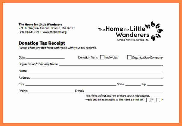 Donation Tax Receipt Template Inspirational 4 Donation Slip Template
