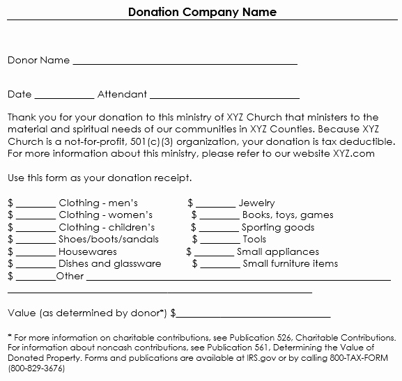 Donation Tax Receipt Template Luxury Donation Receipt Template 12 Free Samples In Word and Excel