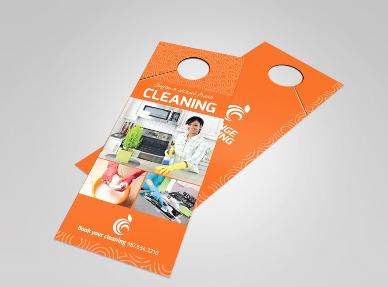 Door Hanger Design Template Elegant Cleaning Door Hanger Templates
