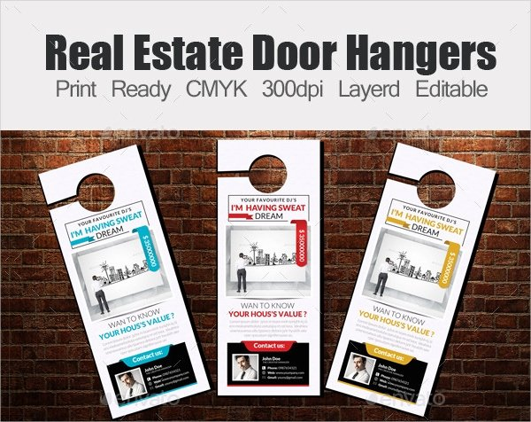 Door Hanger Design Template Fresh 20 Creative Door Hanger Designs