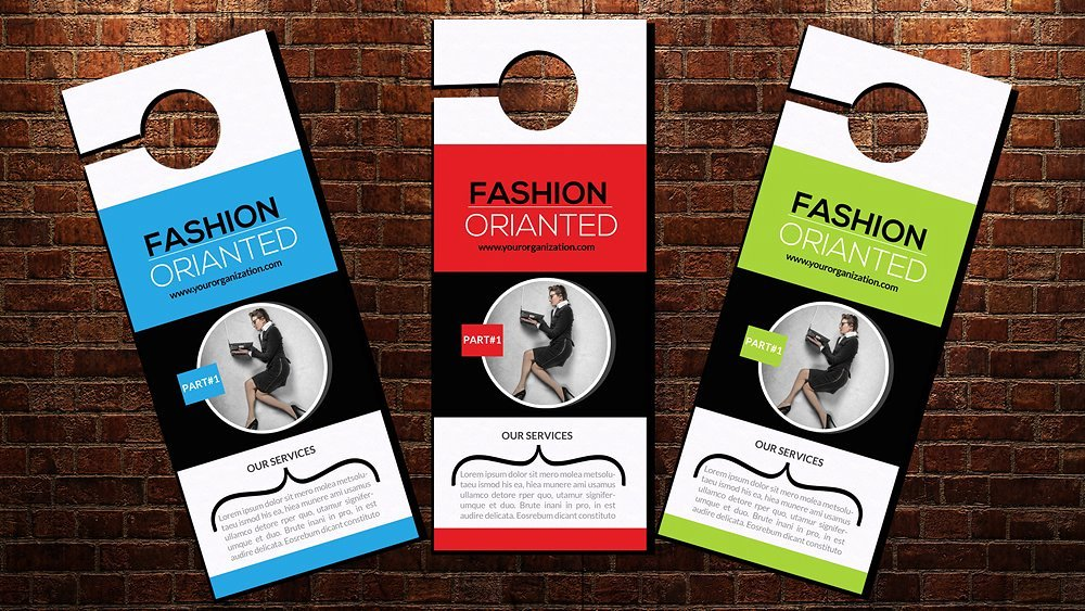 Door Hanger Design Template Unique Business Door Hanger Template Flyer Templates Creative