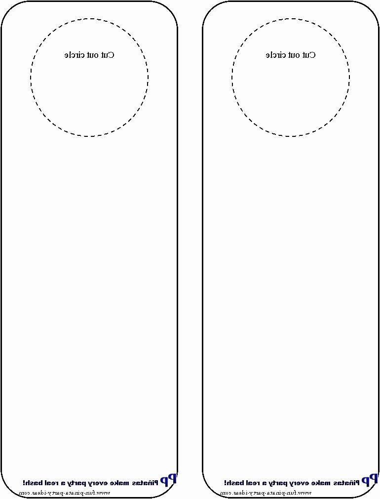 Door Hanger Template for Word Awesome Door Hangers Photo
