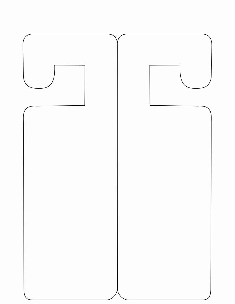 Door Hanger Template for Word Elegant Template Door Knob Sign Template