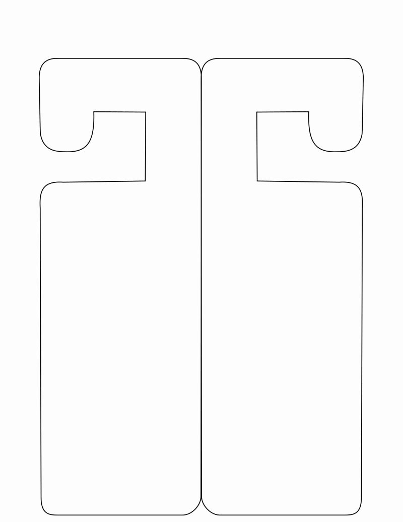 Door Hanger Template for Word Fresh Deurhanger Mal Knutselen Pinterest