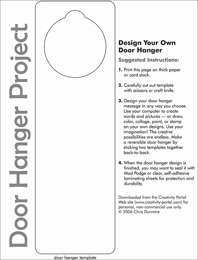 Door Hanger Template for Word Luxury Door Hanger Template