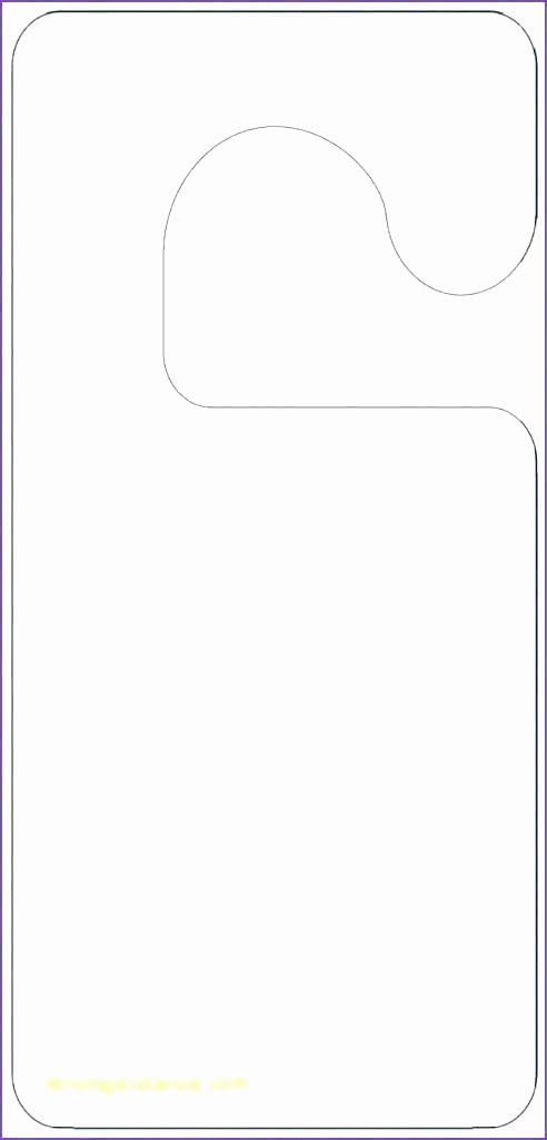 Door Hanger Template for Word Unique Blank Door Hangers Door Hangers 3 Per Page X Standard