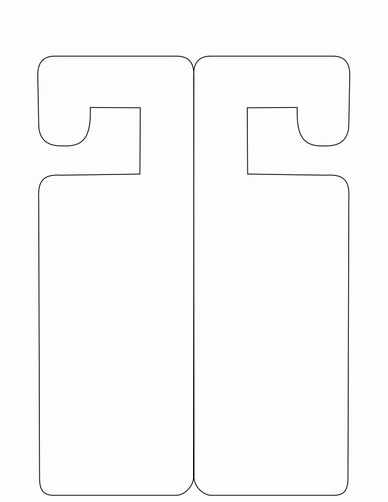Door Hanger Template for Word Unique Door Hanger Template