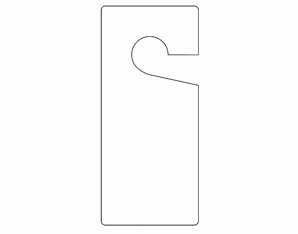 Door Hanger Template for Word Unique Door Knocker Template Door Hanger Template Door Hanger
