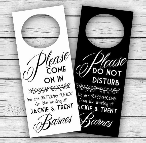 Door Hanger Template Free Beautiful 9 Wedding Door Hanger Templates for Free Download