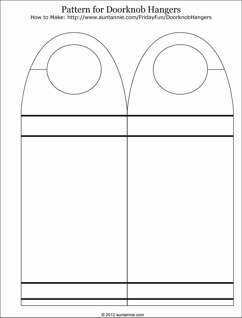 Door Hanger Template Free Fresh 7 Best Of Free Printable Door Hanger Pattern Free