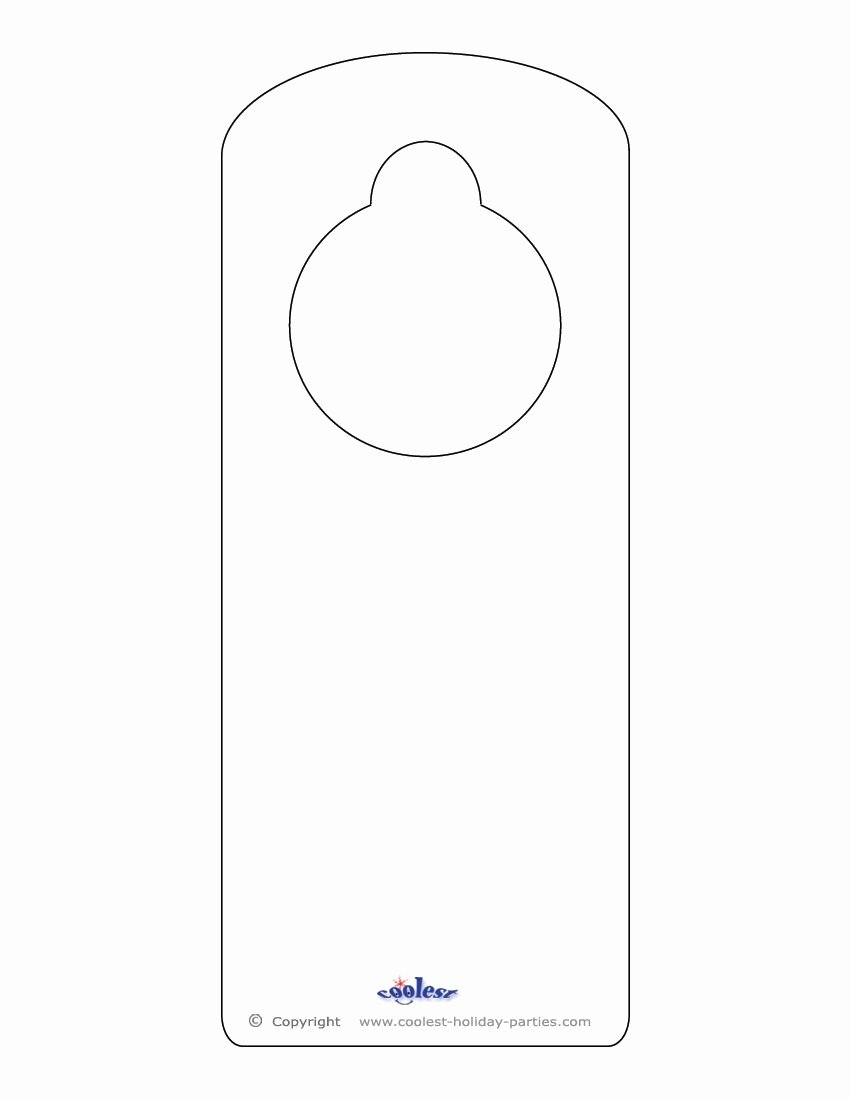 Door Hanger Template Free Lovely This Printable Doorknob Hanger Template Can Be Decorated