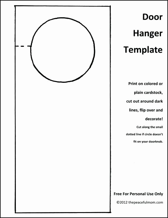Door Hanger Template Microsoft Word Elegant Blank Door Hangers Printable Awesome Hanger Template
