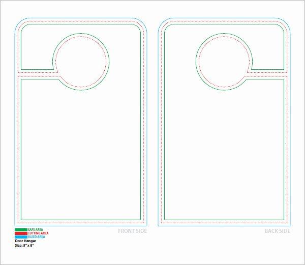 Door Hanger Template Microsoft Word New 14 Door Hanger Templates