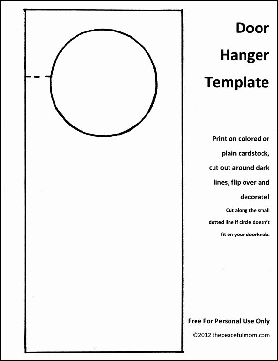 Door Hanger Template Microsoft Word Unique Diy Holiday Door Hanger with Free Template the Peaceful Mom