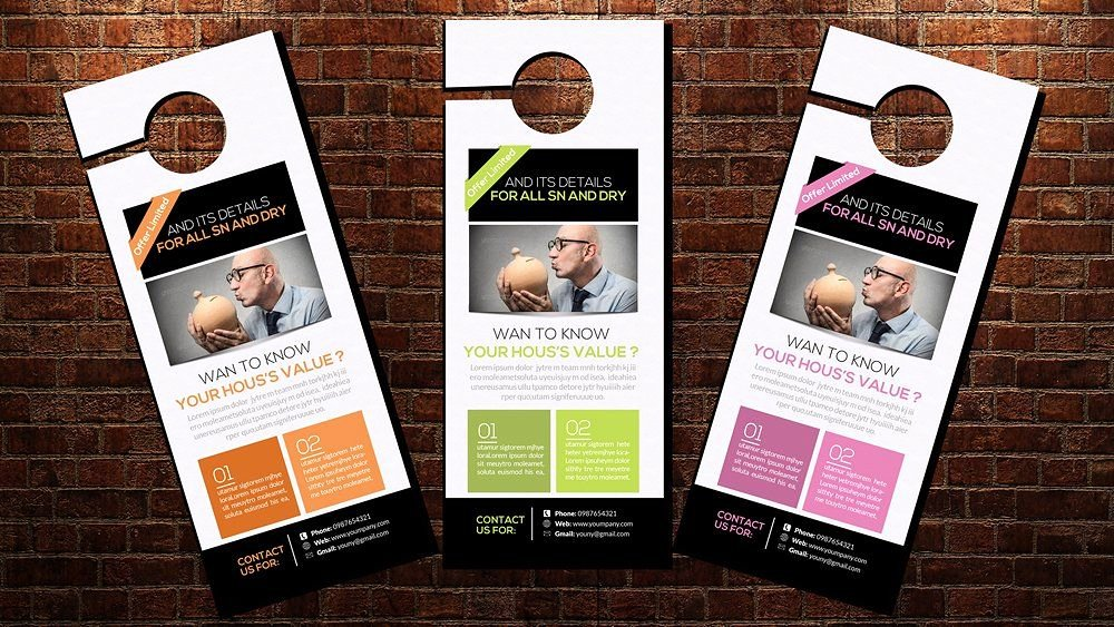 Door Hanger Template Psd Awesome Door Hanger Flyer Template Door Hanger Mockup Psd Doubtful