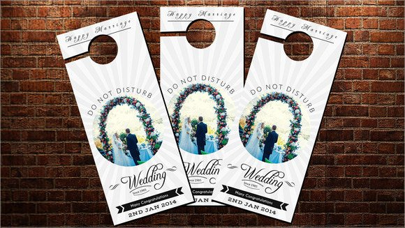 Door Hanger Template Psd Best Of 9 Wedding Door Hanger Templates for Free Download