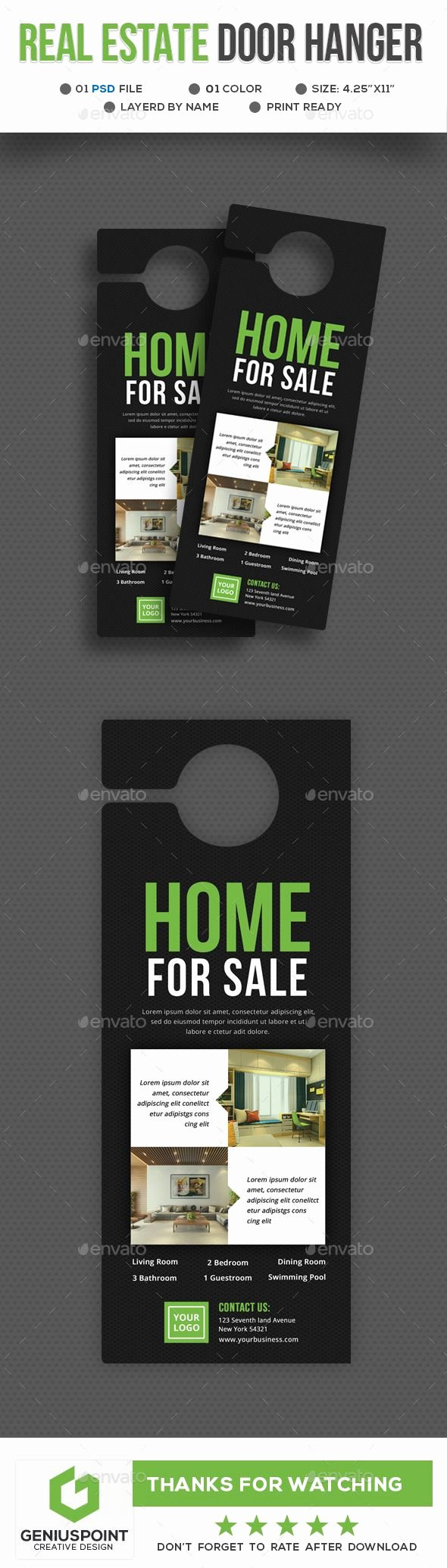 Door Hanger Template Psd Fresh Best 25 Door Hanger Template Ideas On Pinterest
