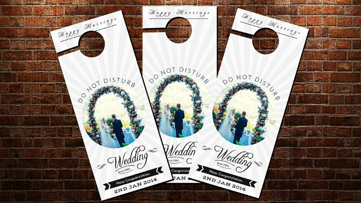 Door Hanger Template Psd Inspirational 14 Memorable Wedding Door Hanger Templates Psd Vector