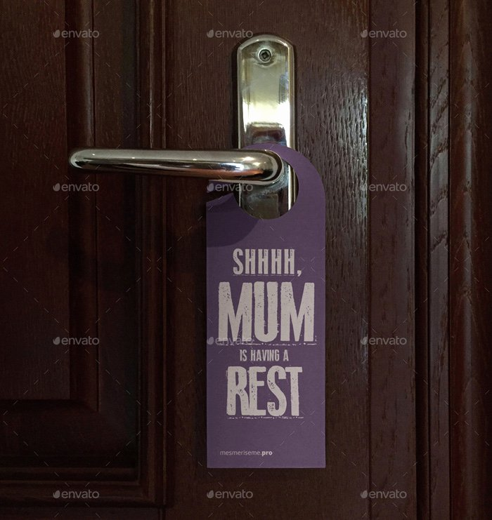 Door Hanger Template Psd New 14 Free and Premium Door Hanger Mockup Templates Designyep