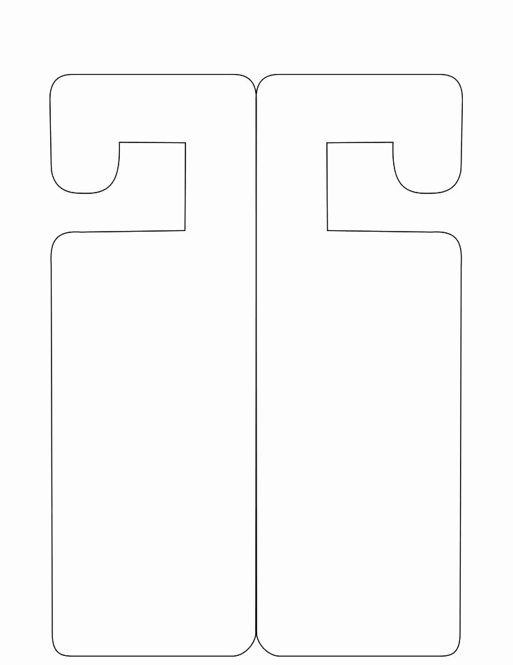 Door Hanger Template Psd New Door Knocker Template Template for Door Hanger Door Sign