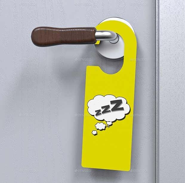 Door Hanger Template Psd Unique 16 Best Free Door Hanger Mockup Psd Templates