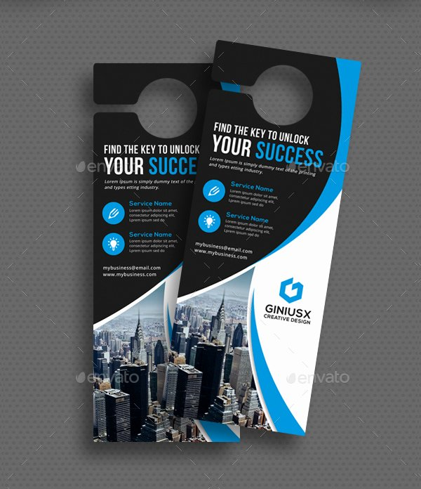 Door Hanger Template Psd Unique 24 Door Hanger Templates Free Premium Psd Png Eps Ai