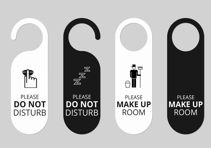 Door Hanger Template Psd Unique Hotel Door Hanger Tags Psd Set Free Shop Brushes at