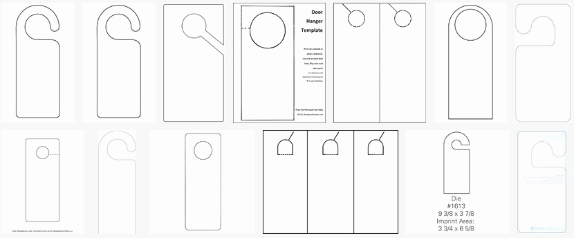 Door Hanger Template Publisher Best Of About Hangers Constructions Clothes Food and Health