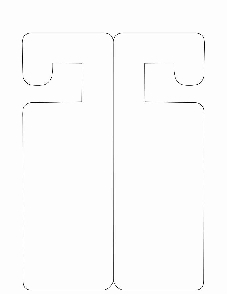 Door Hanger Template Publisher Best Of Door Knocker Template Template for Door Hanger Door Sign