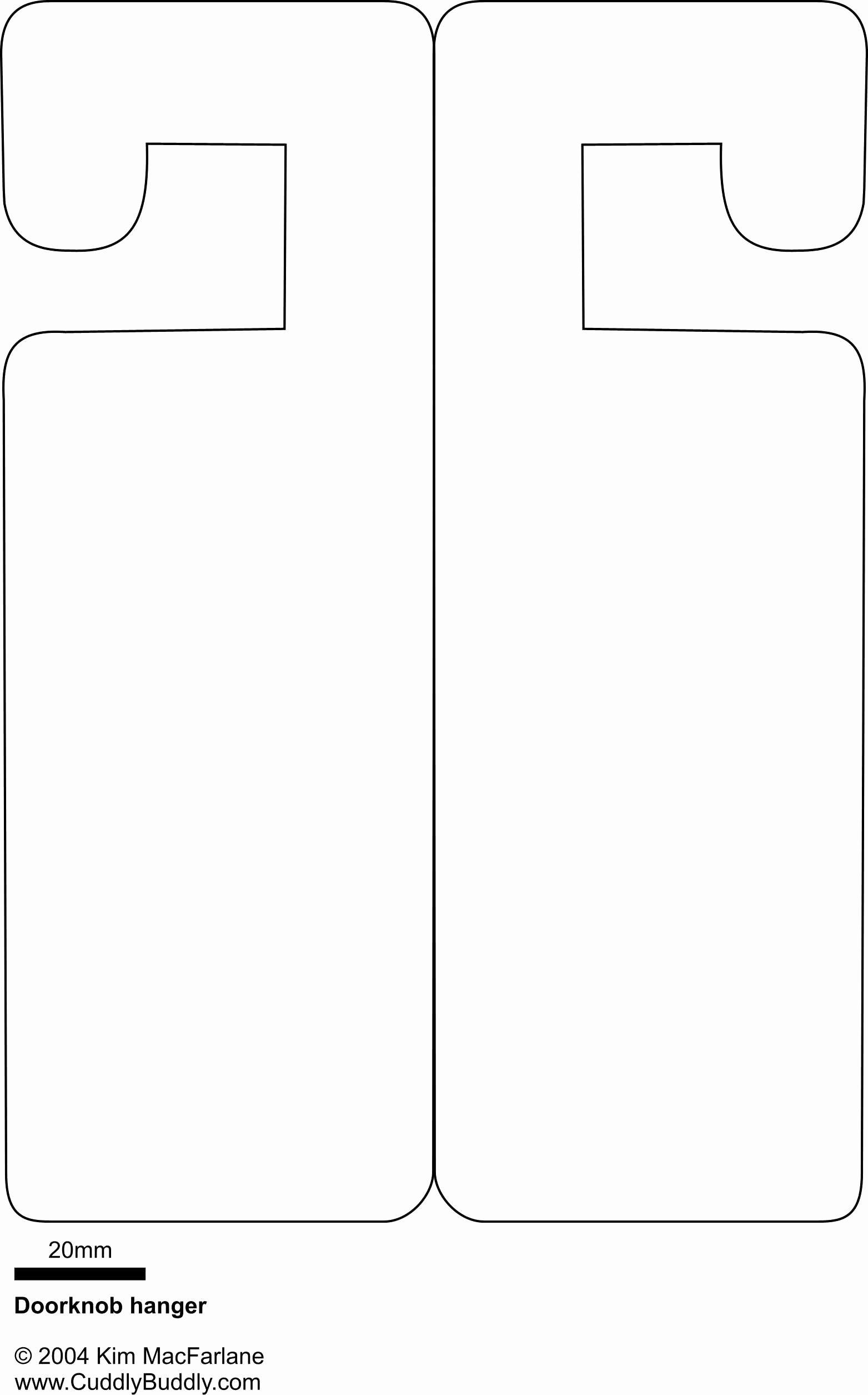 Door Hanger Template Publisher New Door Knob Hanger Template Microsoft Publisher